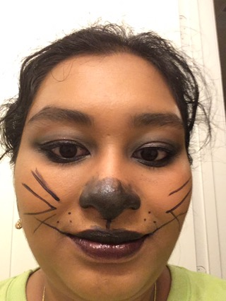 Practicing Cat Look for Halloween